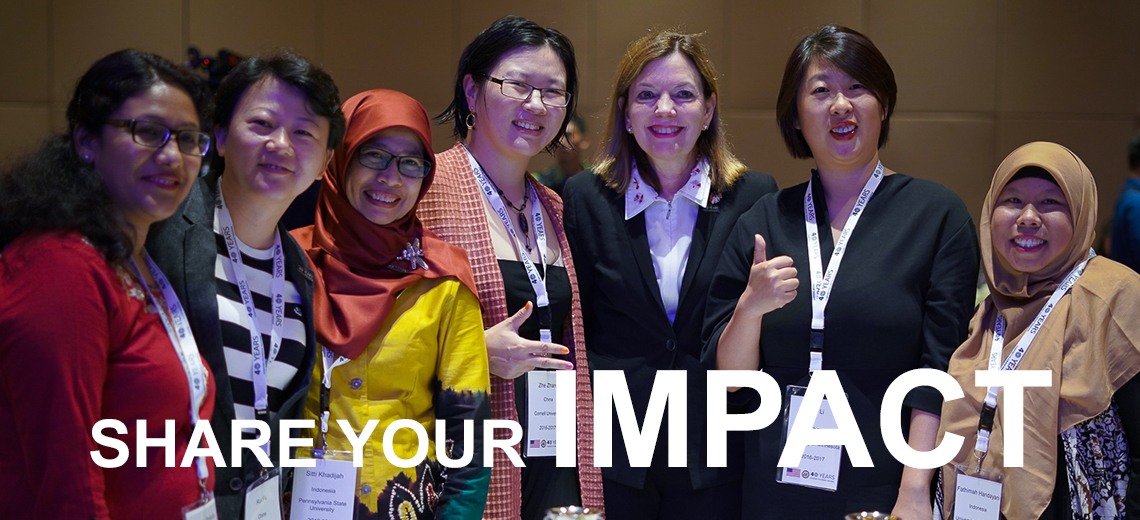 Share Your Impact Image - Smiling Humphrey Fellows
