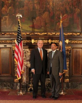 Anupam is pictured here with Governor of Minnesota, Mark Dayton, with whom he completed a second Professional Affiliation during his Fellowship year.