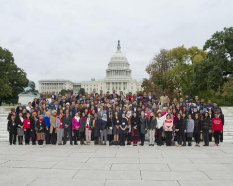 2015-2016 Humphrey Fellows gather at the U.S. Capitol for a group photo