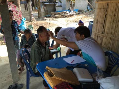 Dr. Tawatchai Apidechkul works at his Hill Tribe Health Research Center