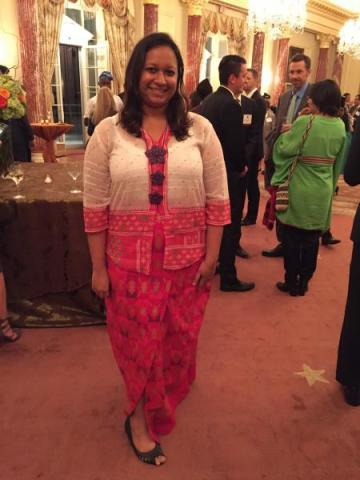 Sharmilla attends the Diplomatic Reception at the State Department during the Global Leadership Forum.