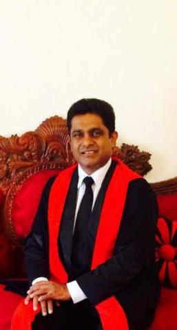 Nawarathne Marasinghe in his Judicial robes