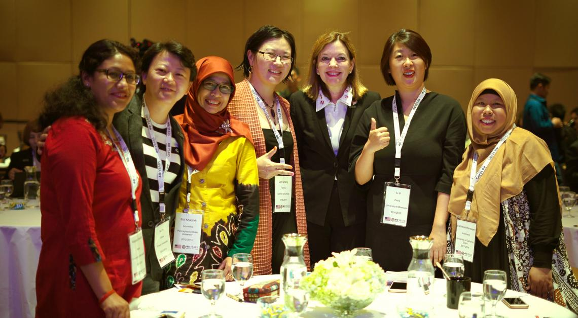 Assistant Secretary Marie Royce with Humphrey Alumni from across East Asia and the Pacific